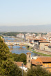 Bridges over the River Arno in Florence Tuscany Italy