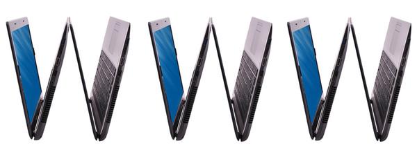WWW inscription made of laptop