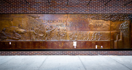 NYC Firefighters 9/11 Memorial,  Ladder 10 Engine 10