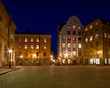 Beautiful Old Town square at night.