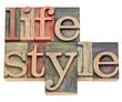 lifestyle in letterpress type