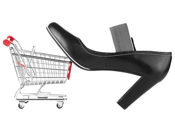 Shoping Cart with shoes