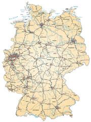 Deutschlandkarte in pastellorange