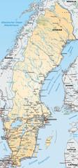 Umgebungskarte von Schweden