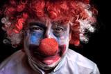 crying sad clown