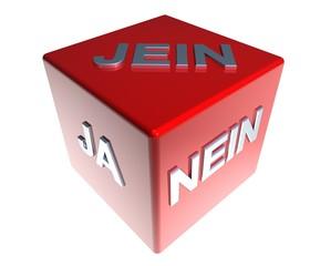 3D ZauberWuerfel - JA - NEIN - JEIN