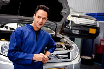 Mechanic at a car garage