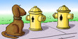 Dog hydrants