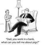 Dad banker poster