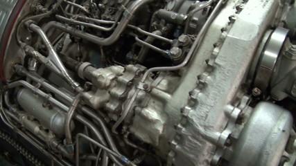 Turbojet aircraft engine