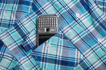 Phone in pocket shirt