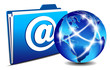 email Folder and communication World, Internet, network concept