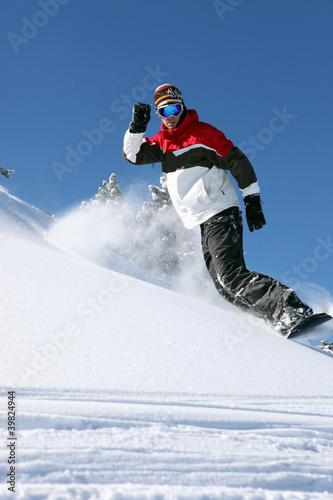 Confident snowboarder
