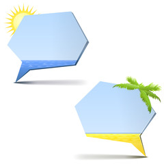 summer theme of chat bubbles