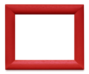 Red Wooden Picture Frame