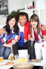 Three French supporters