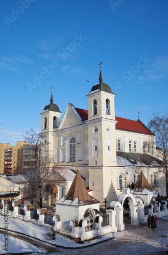 Beautiful ancient church in Minsk