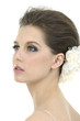 Profile view of beautiful bride