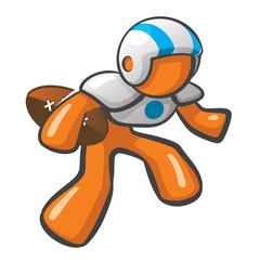 Orange Man Football Player