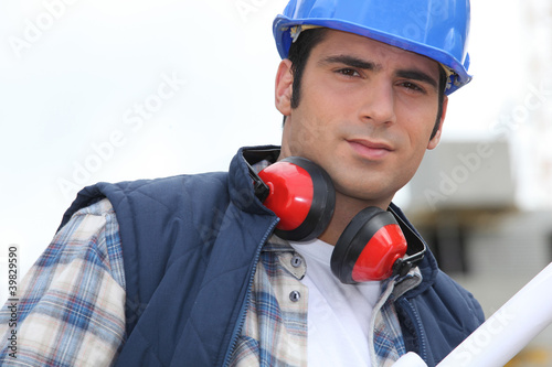 Foreman with ear defenders