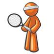 Orange Man Tennis Player