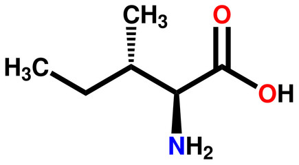 Essential amino acid isoleucine structural formula