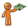 Orange Man Computer Mother Board