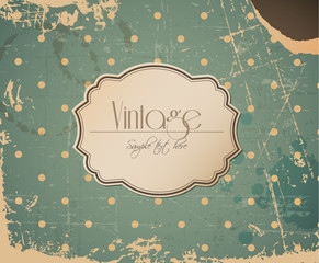 Vector grunge retro vintage background with label