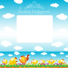 easter background egg chicken hen color