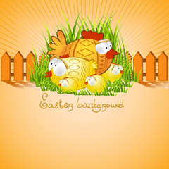 easter background chicken hen