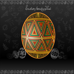 easter egg background banner pisanka