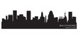 Baltimore, Maryland skyline. Detailed vector silhouette
