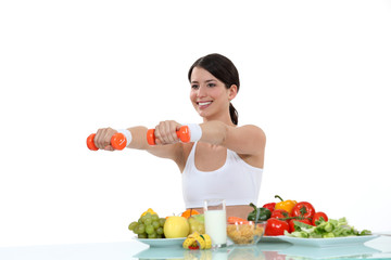 woman having a healthy life