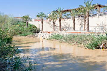 view on Jordan river in baptism site