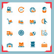 Logistic and cargo icons | In a frame series