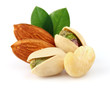 Sweet nuts with leaves