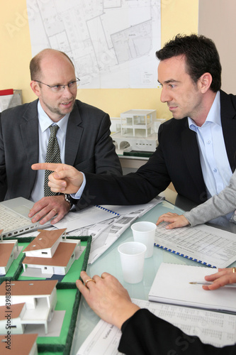 Architects in meeting