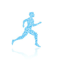 Jogging human silhouette