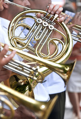 French horn and trumpets