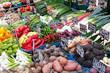frisches Gemüse am Markt