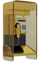 golden pay phone