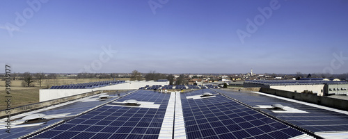 Photovoltaic plant on a roof of an industry - 39839177