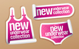New underwear collection for women stickers