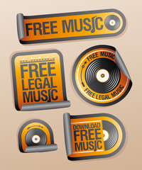 Free legal music stickers pack