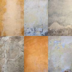 collection of grungy wall/roughcast textures