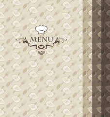 background for menu from cutlery and cooking hood