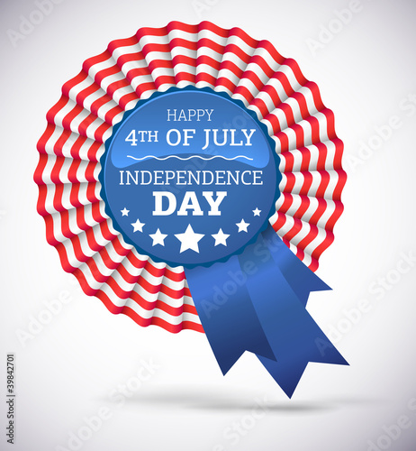 Independence day badge vector on white background