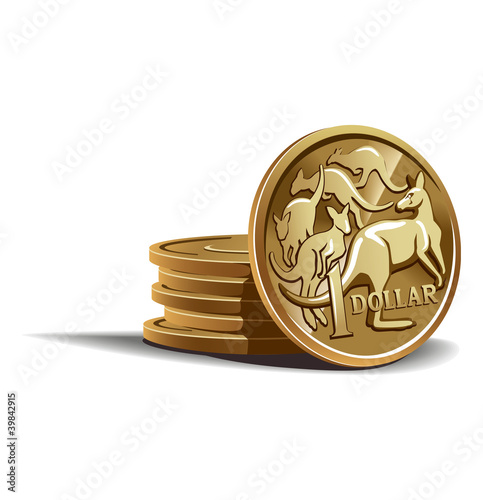 Australian dollar coins vector illustration