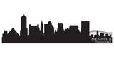 Memphis, Tennessee skyline. Detailed vector silhouette poster