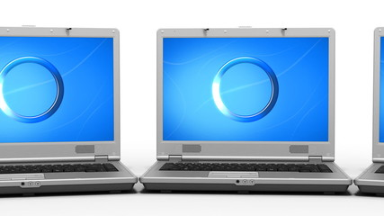 Clean Laptops Animation HD. Close-up. Loop.
